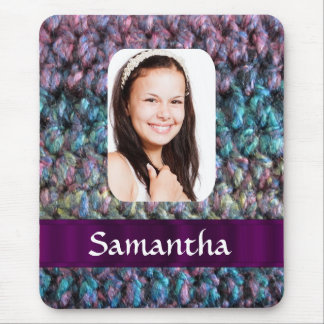 Purple wool photo template mouse pad