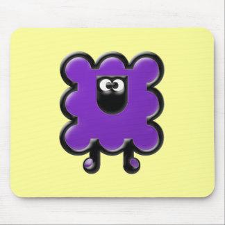 purple woollie mouse pad