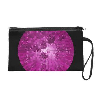 Purple World Bagettes Wristlet Bag