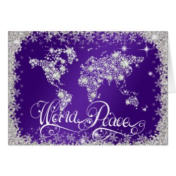 Purple WORLD PEACE Diamonds PERSONALIZED Card
