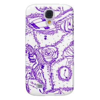 Purple world- purple ink drawing of multiple items galaxy s4 cover