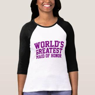 Purple World's Greatest Maid of Honor Shirts