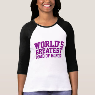 Purple World's Greatest Maid of Honor T Shirt