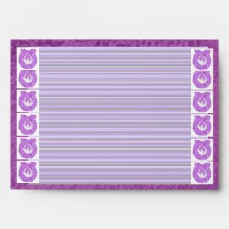 Purple Wreath :  Satin Silk Sparkle Rich Border Envelope
