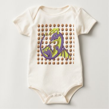 Beach Themed Purple Wyvern Dragon Beach Ball Organic Bodysuit