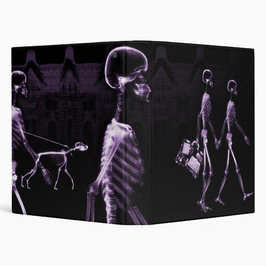 Purple X-Ray Skeletons Midnight Stroll Binder