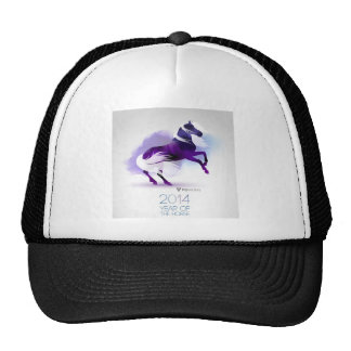 PURPLE YEAR OF THE HORSE MESH HATS