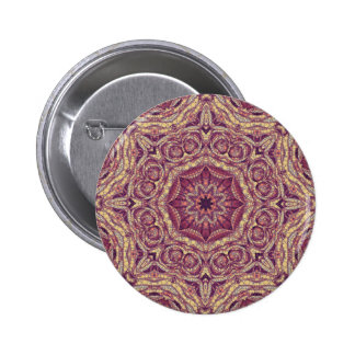 Purple Yellow Abstract Button