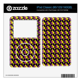 Purple, Yellow and Black Pattern iPod Classic Skins