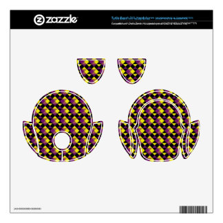 Purple, Yellow and Black Pattern Turtle Beach X41 Skins