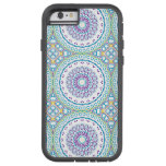 Purple, Yellow and Blue Kaleidoscope Flowers Tough Xtreme iPhone 6 Case