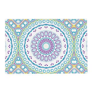 Purple, Yellow, and Blue Kaleidoscope Mandala Placemat