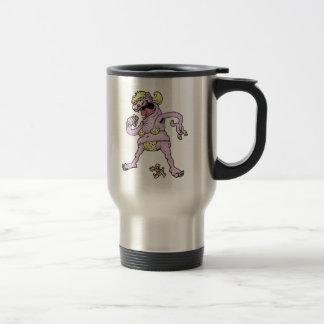 Purple Yellow Bikini Monster Travel Mug