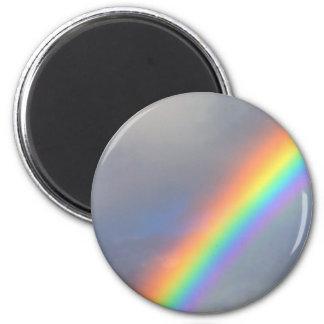 purple yellow blue red rainbow 2 inch round magnet