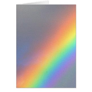 purple yellow blue red rainbow greeting card