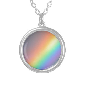 purple yellow blue red rainbow necklace