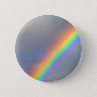 purple yellow blue red rainbow pinback button