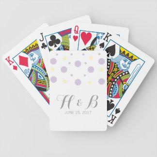 Purple Yellow Confetti Playing Cards