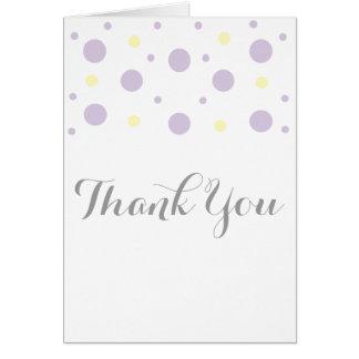 Purple Yellow Confetti Thank You Card