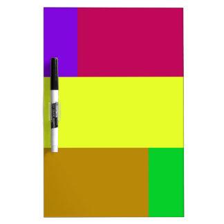Purple, Yellow, Crimson Colorblock Dry-Erase Board