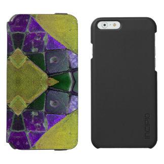 Purple yellow Diamond tile iPhone 6/6s Wallet Case