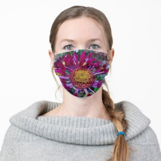 Purple & Yellow Flower Cloth Face Mask