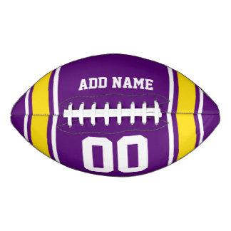 Purple|Yellow Football Jersey Stripes