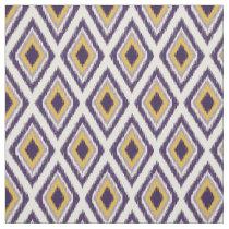 purple yellow Ikat diamonds pattern fabric