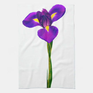 Purple  Yellow Iris Flower Floral Flowers Hand Towels