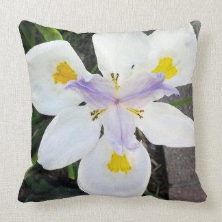 Purple & Yellow Iris Throw Pillow