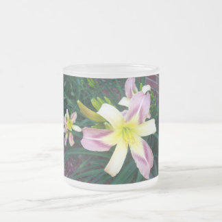 Purple/Yellow Lily Mug ( shown with Frosted Glass)