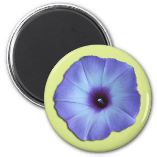 Purple & Yellow Morning Glory Flower Magnet