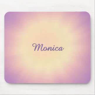 Purple-Yellow Mousepad with Name or other Text