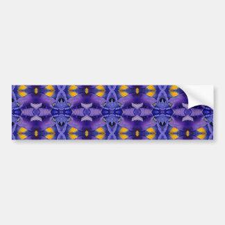 Purple & yellow pattern bumper sticker