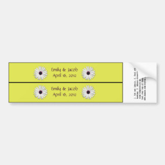 Purple Yellow Personalized Water Bottle Labels
