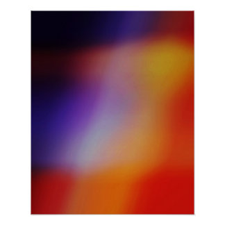 Purple Yellow Red & Orange Abstract Glow Poster