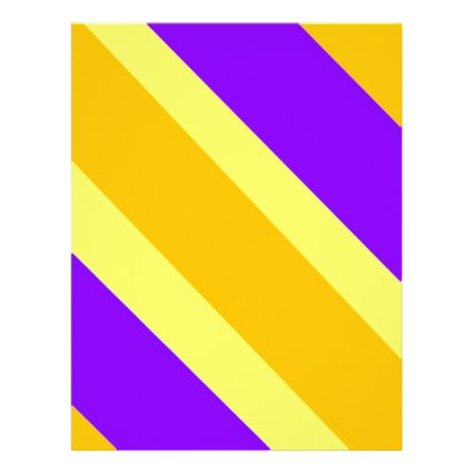 Purple Yellow Stripes Personalized Letterhead