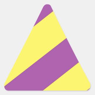 Purple & Yellow Stripes Stickers