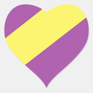 Purple & Yellow Stripes Sticker