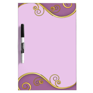Purple-yellow Swirl Dry Erase Board