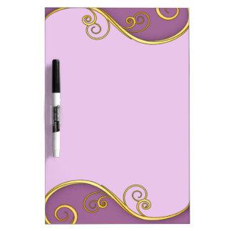 Purple-yellow Swirl Dry-Erase Whiteboard