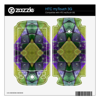 purple yellow tile abstract decals for HTC myTouch 3G