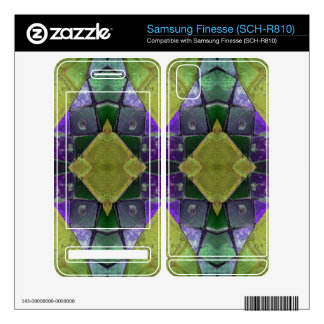 purple yellow tile abstract samsung finesse decals