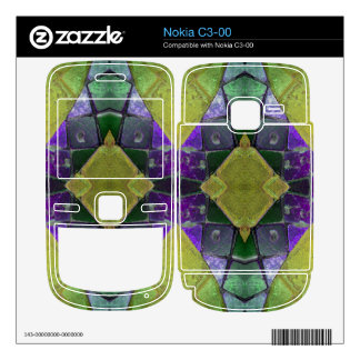 purple yellow tile abstract skin for nokia c3-00