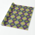 Purple Yellow Tile Pattern Gift Wrap