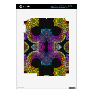 Purple Yellow Turquoise Abstract Decals For iPad 3