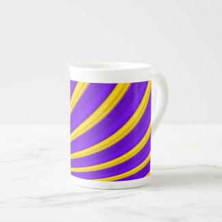 Purple yellow wave striped porcelain Vol.20tw Tea Cup