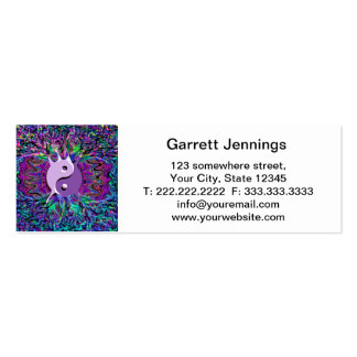 Purple Yin Yang Double-Sided Mini Business Cards (Pack Of 20)