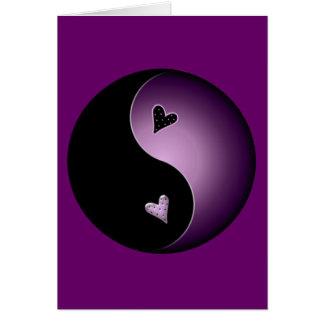 purple yin yang card