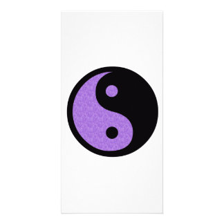 Purple Yin Yang Card
